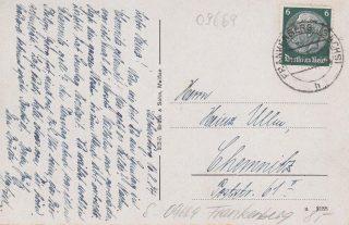 Postkarte eines Wachmanns Rückseite